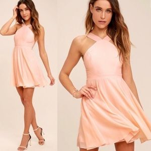 Lulu's NWT Pink Skater Dress sZ Small New !
